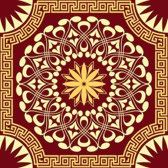 Modèle or vectoriel de spirales, tourbillons et chaînes