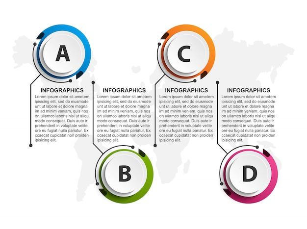 Modèle d'organigramme de conception infographique.