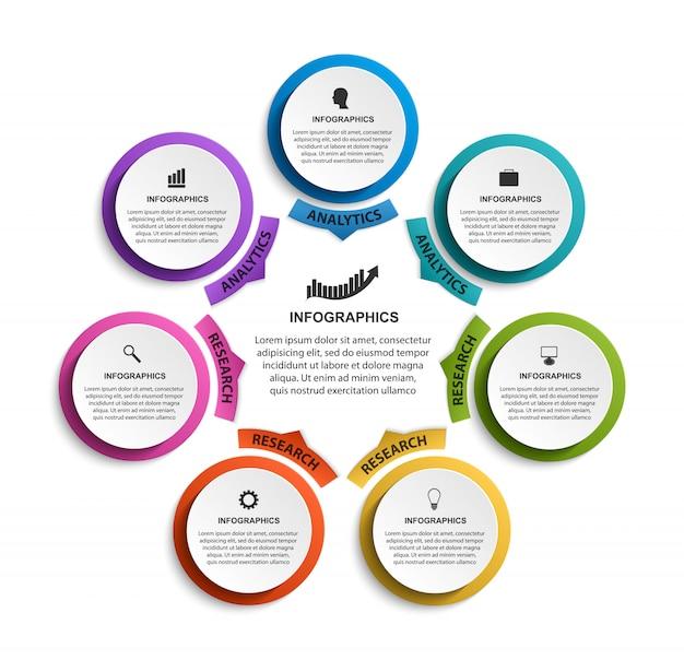 Modèle d'organigramme infographique.