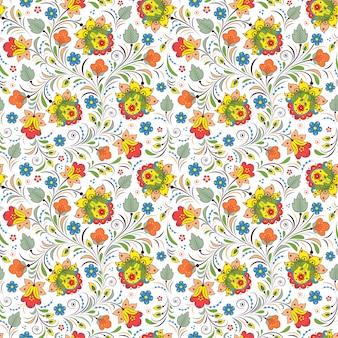 Modèle avec ornement floral russe traditionnel