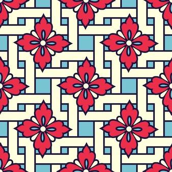 Modèle d'ornement géométrique de style zentangle