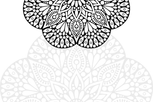Modèle d'ornement de mandala. éléments décoratifs vintage