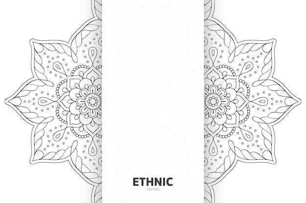 Modèle d'ornement de mandala. fond d'éléments décoratifs vintage