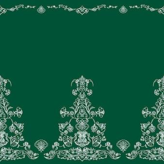 Modèle avec un ornement oriental sur fond vert