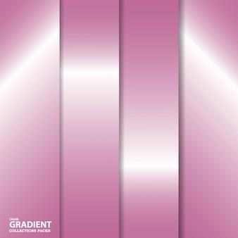 Modèle de pack de collection de dégradé de couleurs