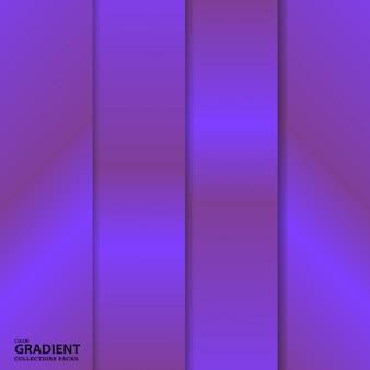 Modèle de pack de dégradé de couleurs