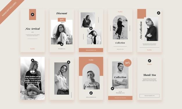 Modèle de pack d'histoires de mode instagram