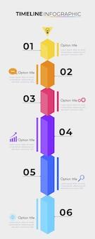 Modèle de pack infographique de chronologie