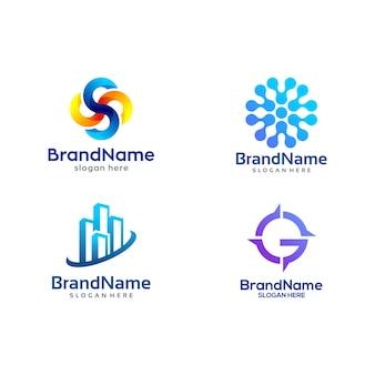Modèle de pack de logo