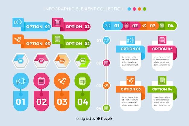 Modèle de pack d'options marketing infographique