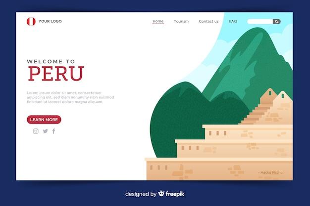 Modèle de page d'accueil bien conçue