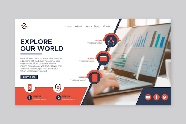 Modèle de page d'accueil d'entreprise