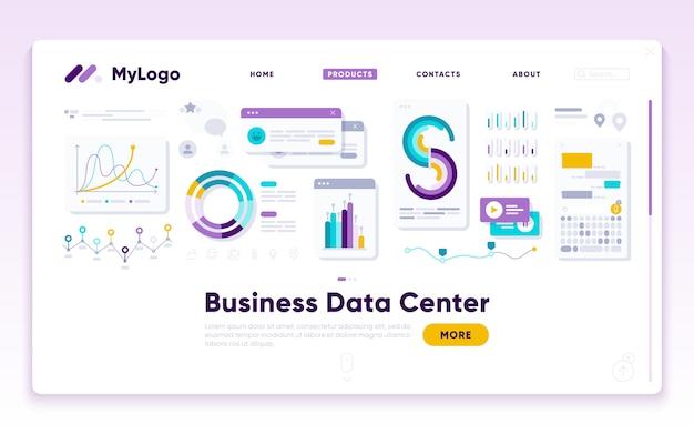 Modèle de page anding. analyste en marketing numérique