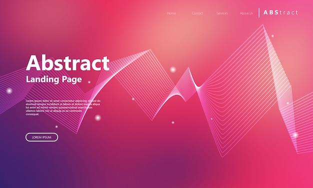 Modèle de page d'arrivée abstraite