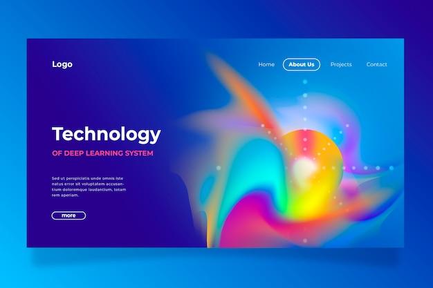 Modèle de page d'atterrissage abstrait délire coloré