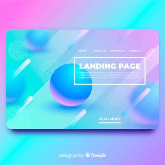 Modèle de page d'atterrissage abstrait