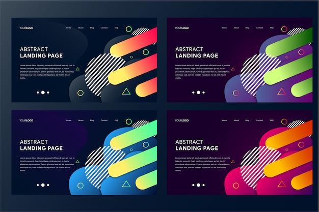 Modèle de page d'atterrissage abstraite moderne avec des formes de dégradé géométrique