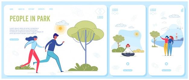 Modèle de page d'atterrissage adaptée à la vie du parc