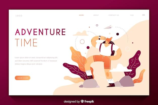 Modèle de page d'atterrissage adventure time