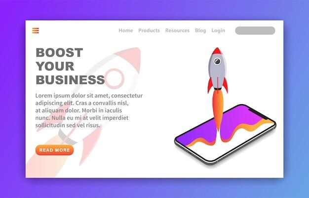Modèle de page d'atterrissage boost your business