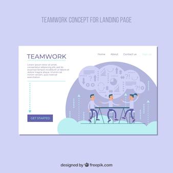Modèle de page d'atterrissage avec concept d'entreprise