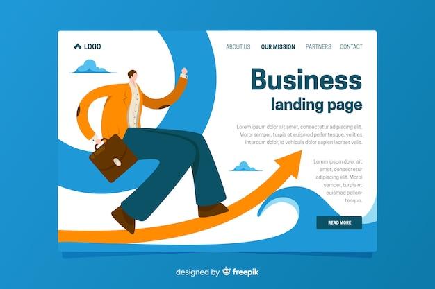 Modèle de page d'atterrissage de l'entreprise