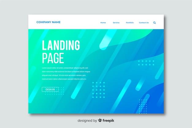 Modèle de page d'atterrissage avec des formes abstraites