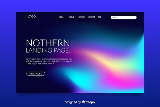 Modèle de page d'atterrissage northern lights