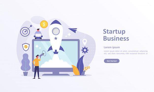 Modèle de page d'atterrissage de startup idea