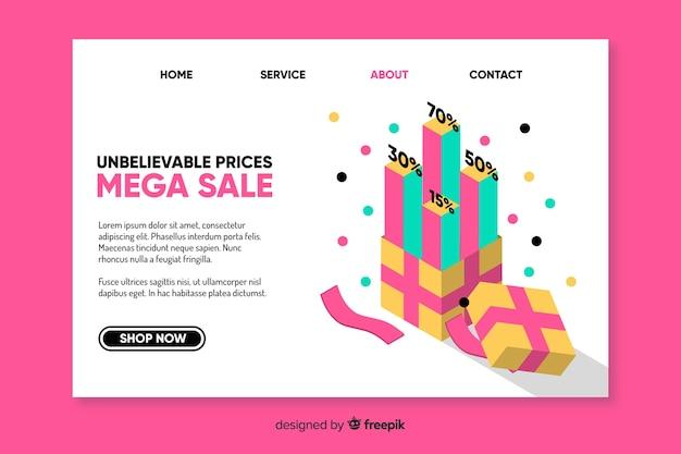 Modèle de page d'atterrissage de vente de mode