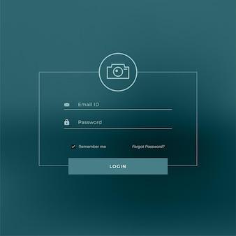 Modèle de page de connexion de style de ligne