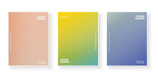 Modèle de page de couverture en demi-teinte abstraite