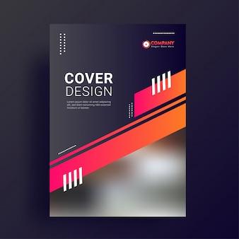 Modèle de page de couverture promotionnelle.