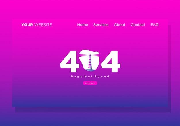 Modèle de page de destination 404 erorr