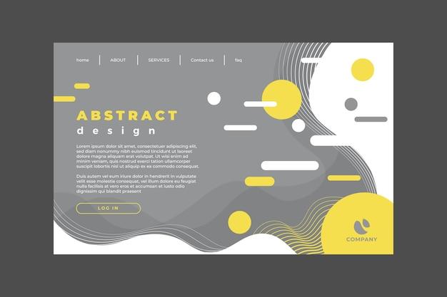 Modèle de page de destination abstraite jaune et gris