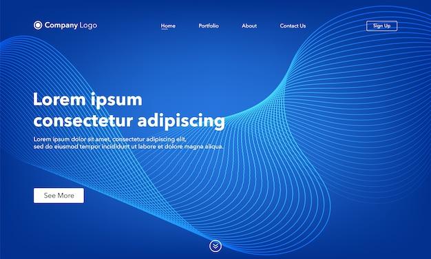 Modèle de page de destination abstraite de site web d'arrière-plan asbtract