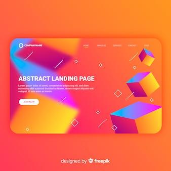 Modèle de page de destination abstraite