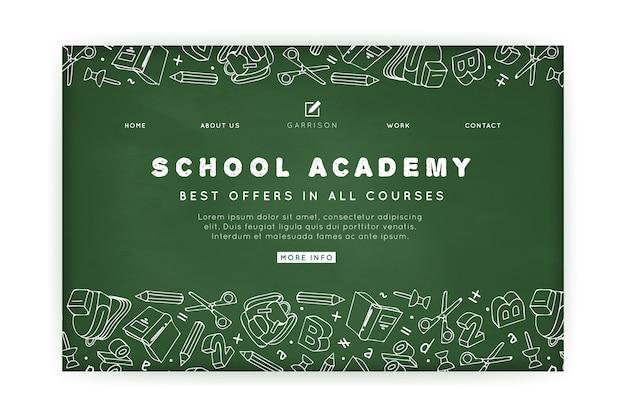 Modèle de page de destination de l'académie scolaire