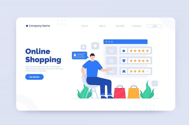 Modèle de page de destination d'achat en ligne