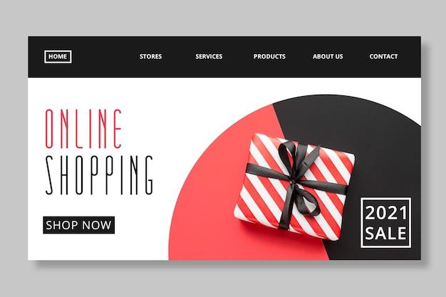 Modèle de page de destination d'achat et de vente en ligne