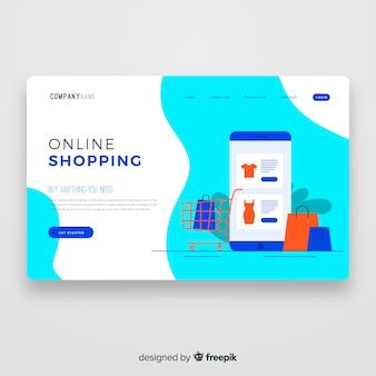 Modèle de page de destination d'achat