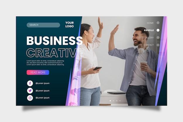 Modèle de page de destination d'affaires coloré