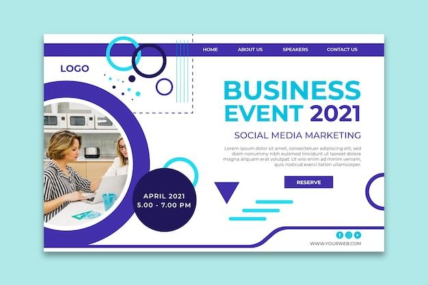 Modèle de page de destination d'agence de marketing
