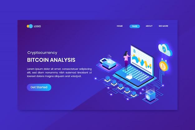 Modèle de page de destination d'analyse bitcoin
