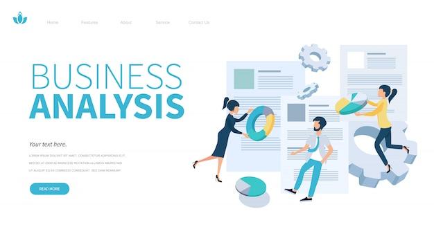Modèle de page de destination d'analyse commerciale