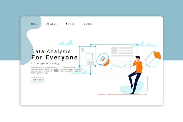 Modèle de page de destination d'analyse des données