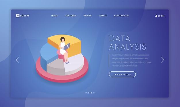 Modèle de page de destination d'analyse de statistiques de marché