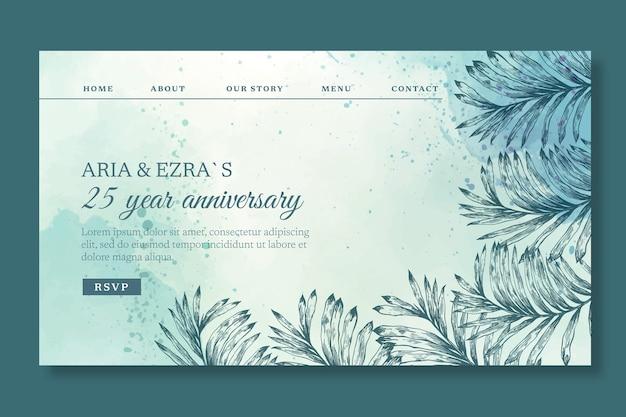 Modèle de page de destination anniversaire 25 ans