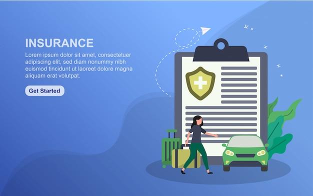 Modèle de page de destination d'assurance