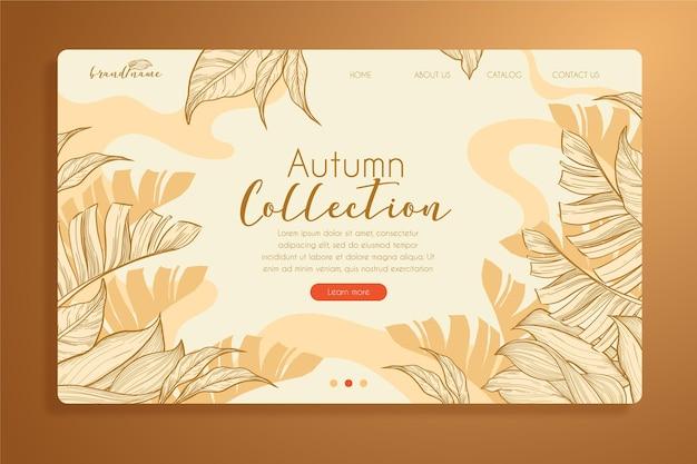 Modèle de page de destination d'automne